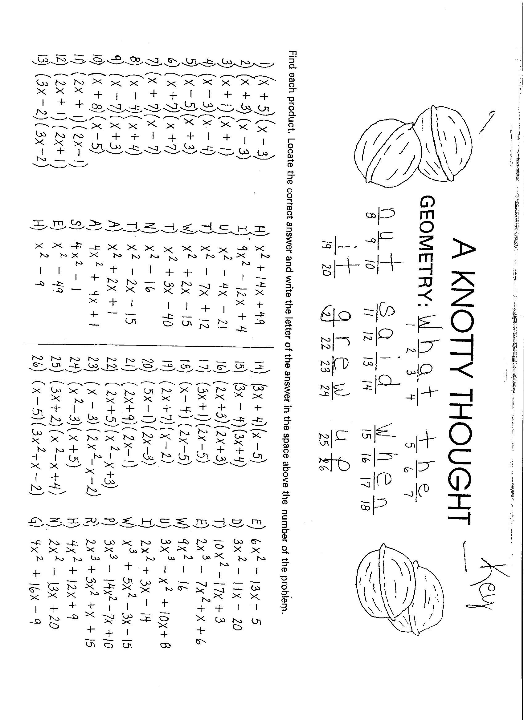 Multiplying Polynomials Worksheet Answers Alex