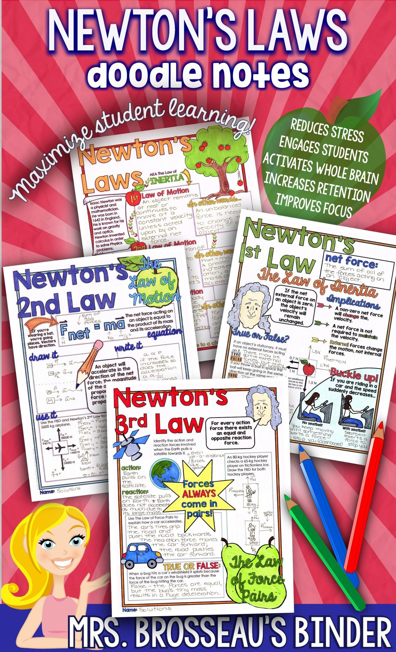 Newton039s Second Law Worksheet Answers Pin On Physics