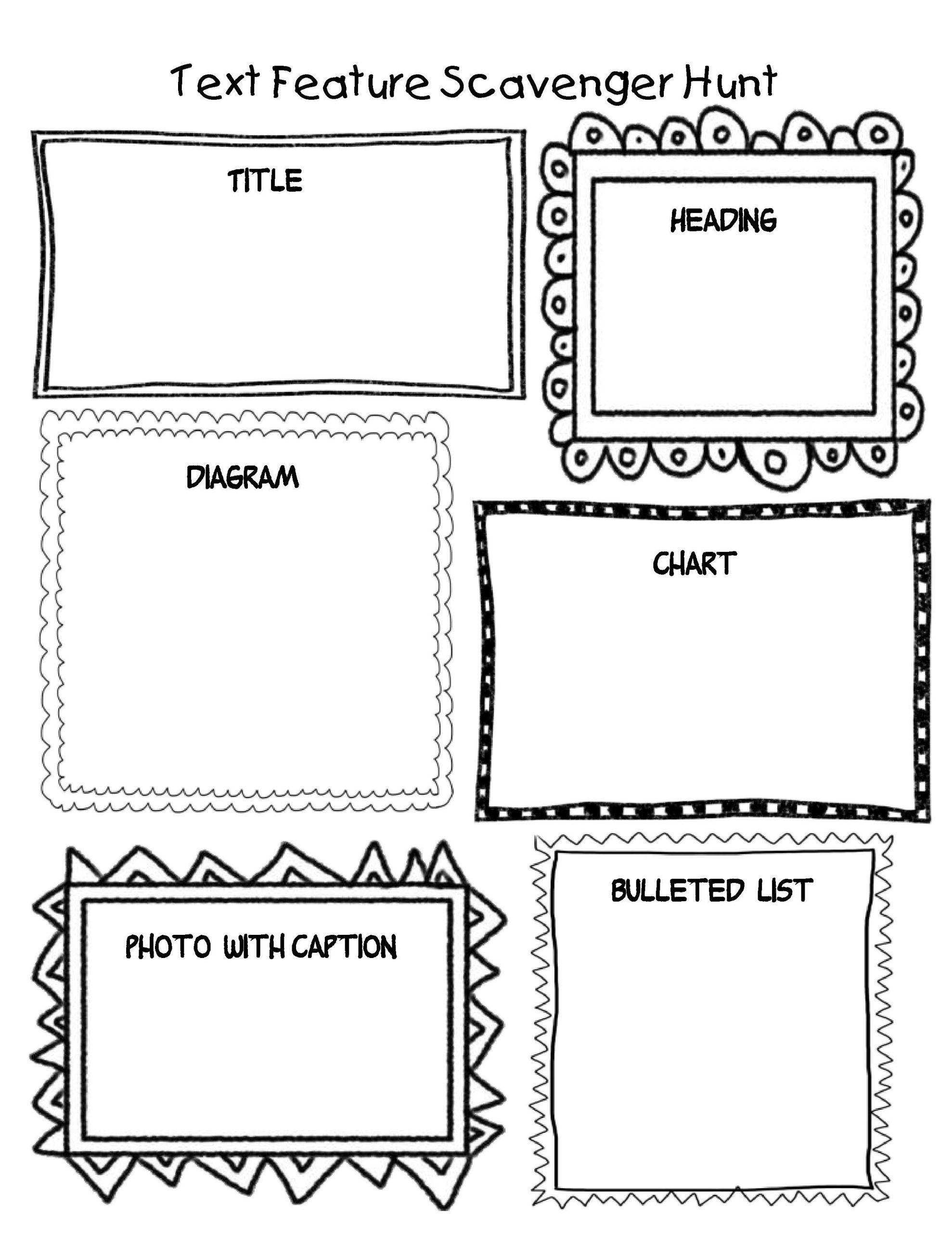 Nonfiction Text Features Worksheet Create One Of these Students Could then Create One Of their