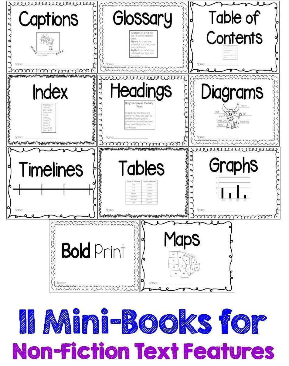 Nonfiction Text Features Worksheet Guided Reading Gurus Nonfiction Text Features Printable