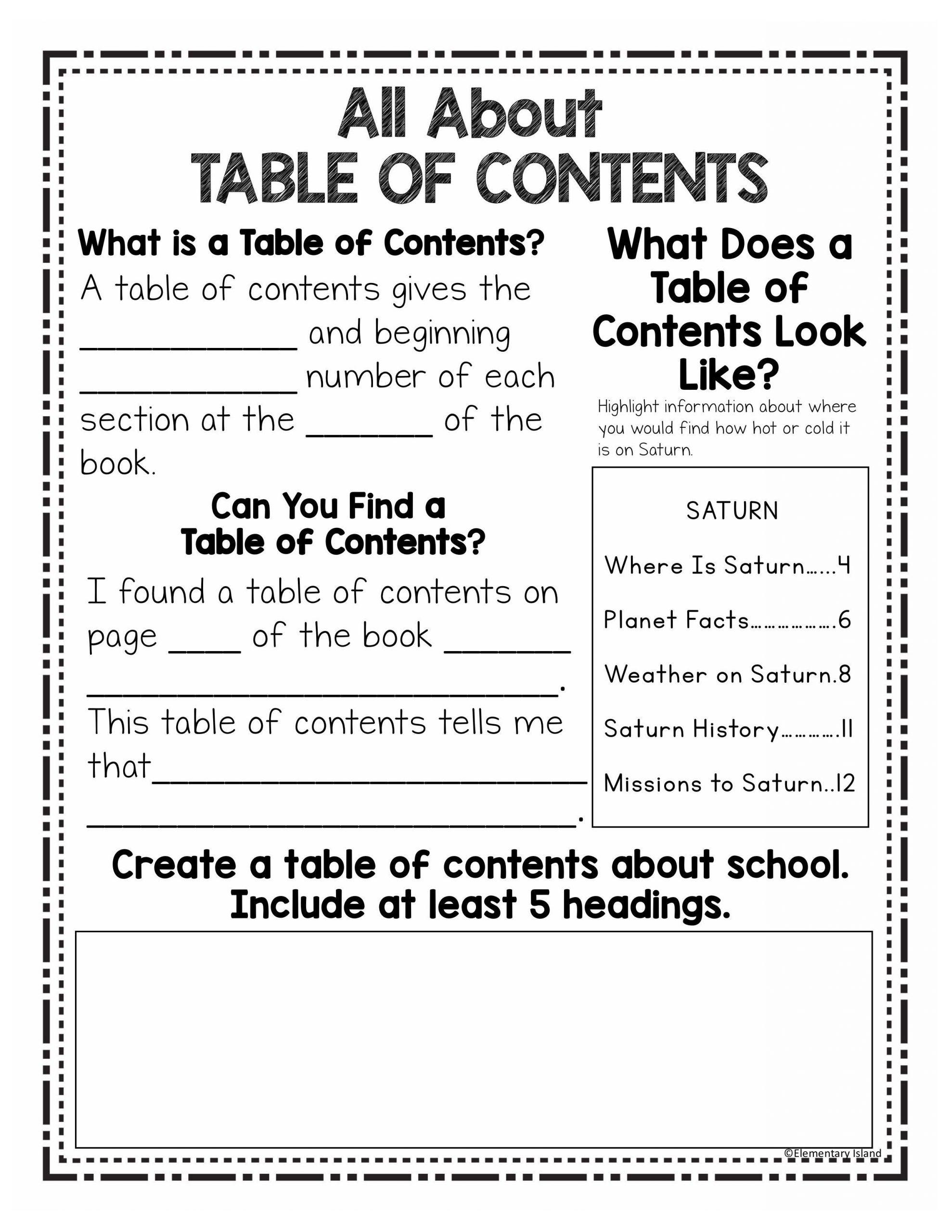 Nonfiction Text Features Worksheet Nonfiction Text Features