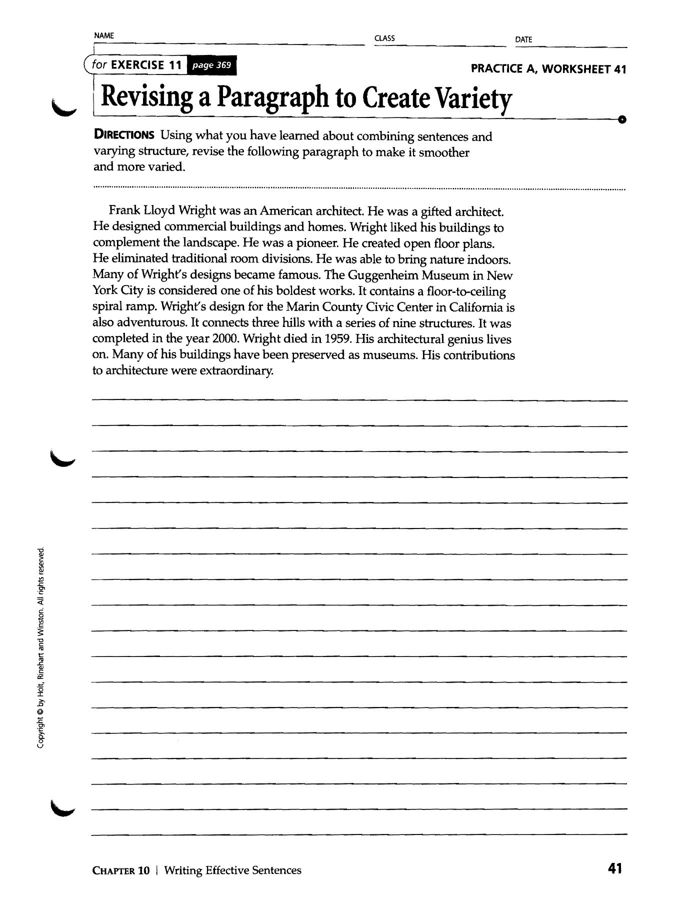 Nova Hunting the Elements Worksheet Sentences Paragraphs and Positions Shifflett S Page