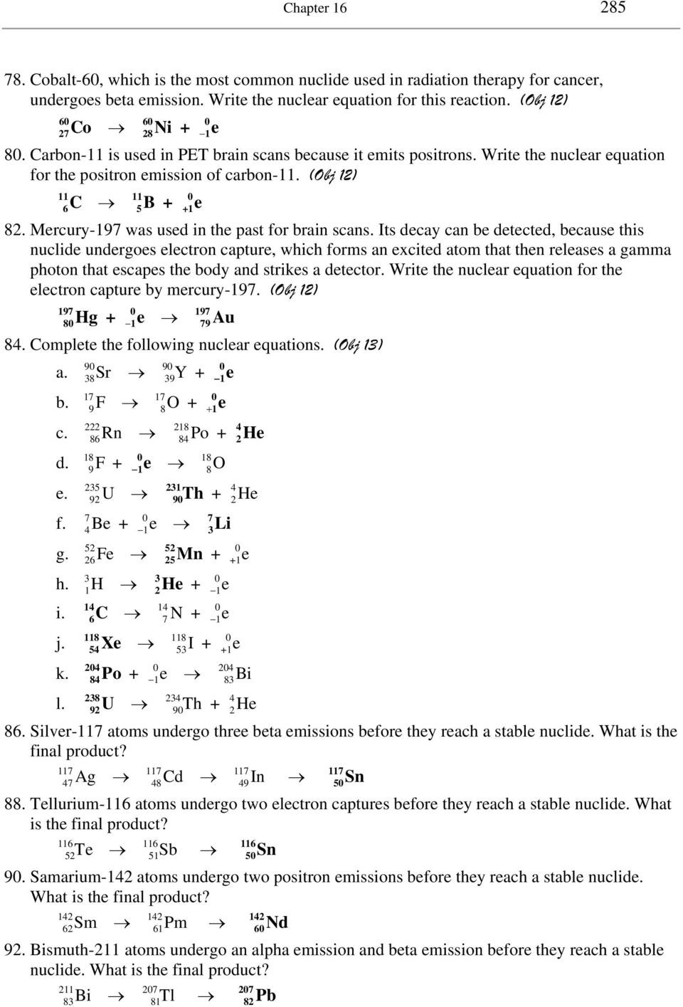 Nuclear Chemistry Worksheet Answers Chapter 16 Nuclear Chemistry Pdf Free Download