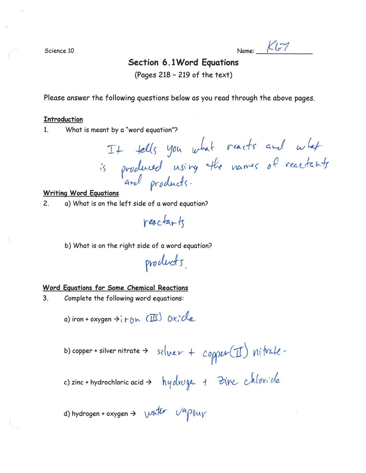 Nuclear Equations Worksheet Answers Balancing Equations Worksheet for Grade 7 with Answers