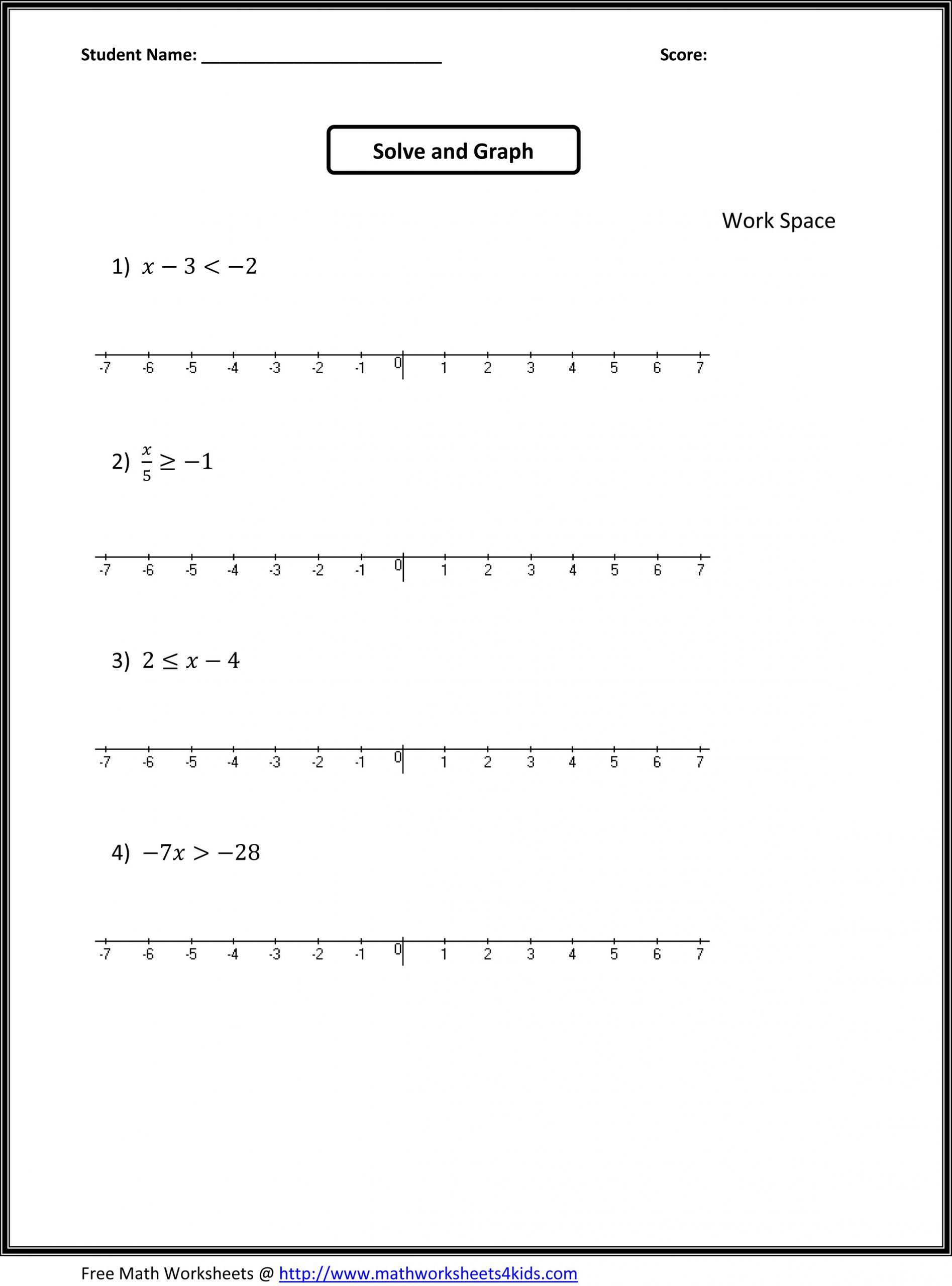 One Step Inequalities Worksheet Algebra Worksheet New 749 Algebra Worksheets Grade 3