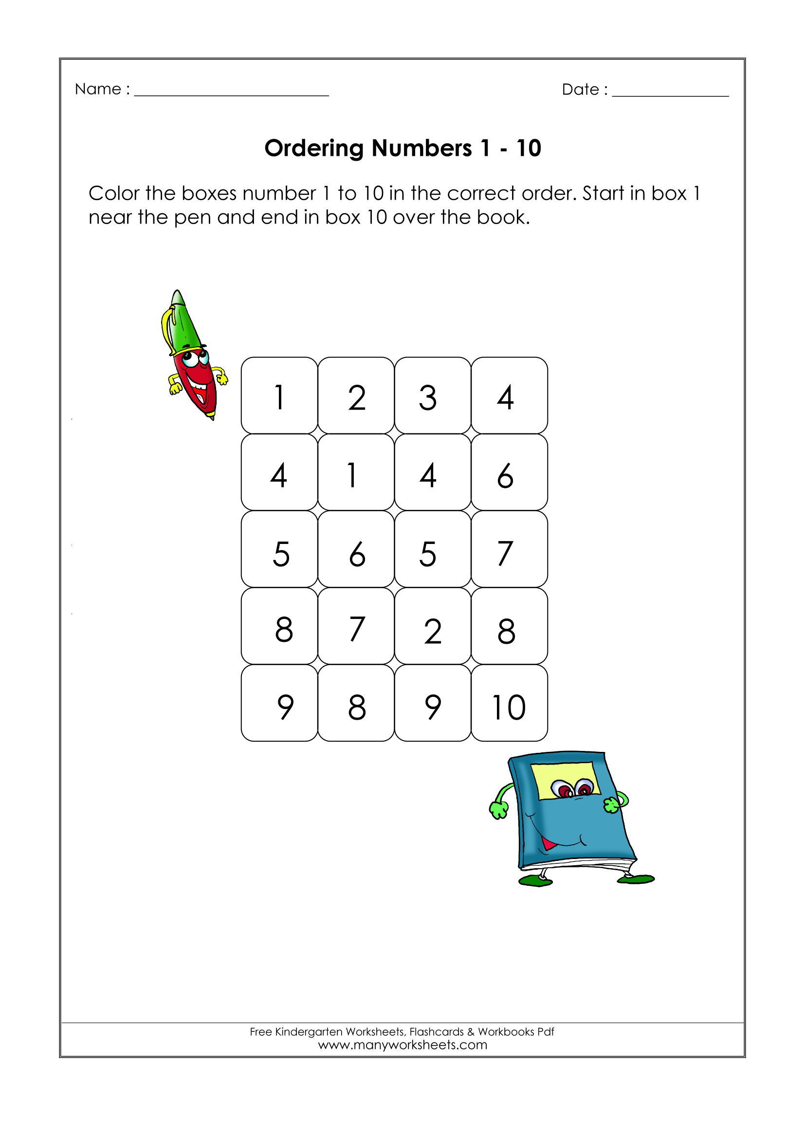 Ordering Real Numbers Worksheet ordering Numbers to 20 Worksheet