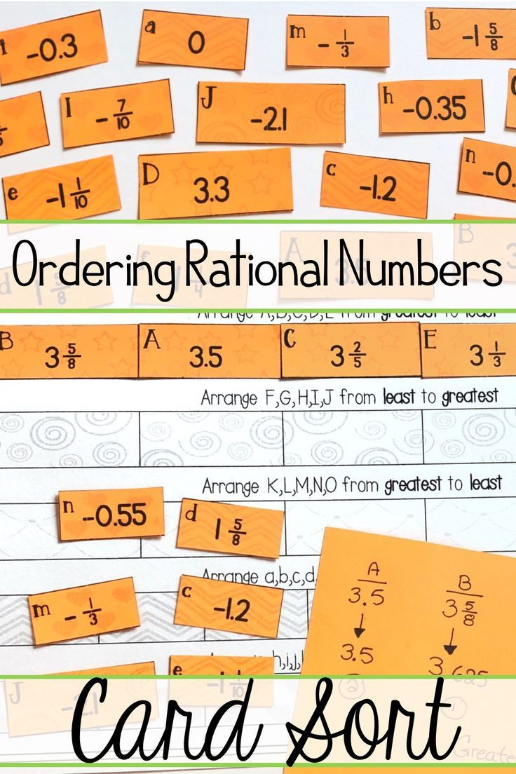 Ordering Real Numbers Worksheet ordering Rational Numbers Activity Positive and Negative