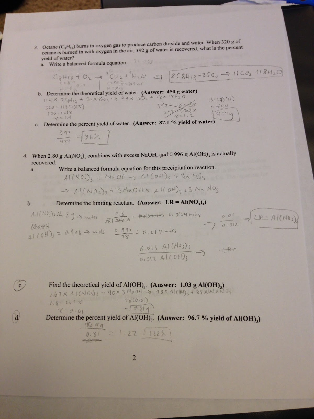 Percent Error Worksheet Answer Key Chemistry Percent Yield Worksheet the Best and Most