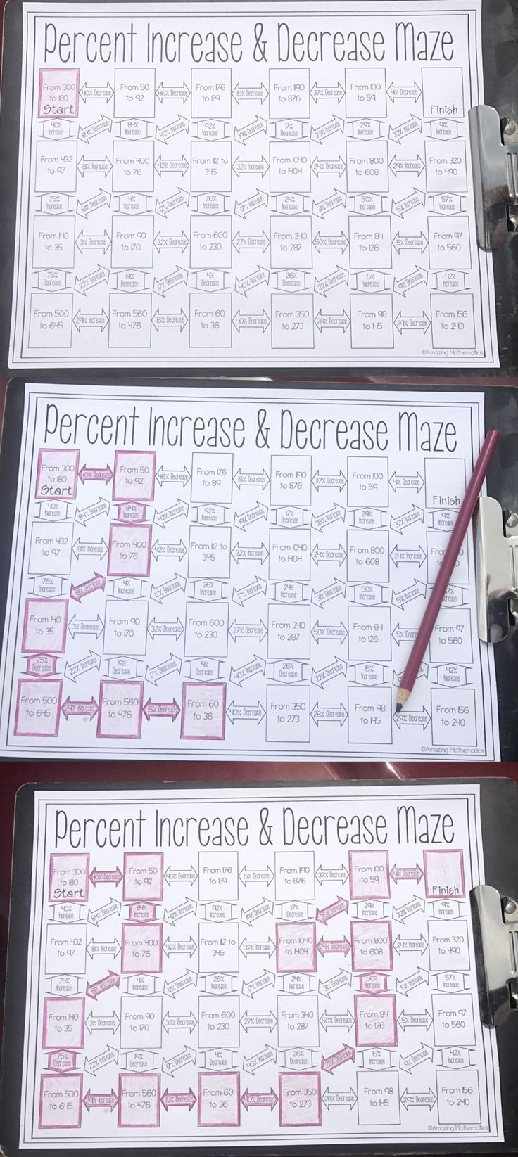Percentage Increase and Decrease Worksheet This Was the Perfect Way for My 7th Grade Math Students to