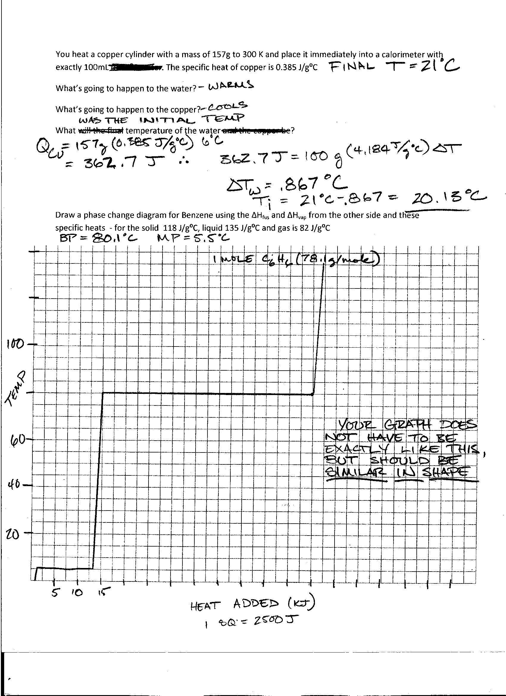 Phase Diagram Worksheet Answers Foothill High School