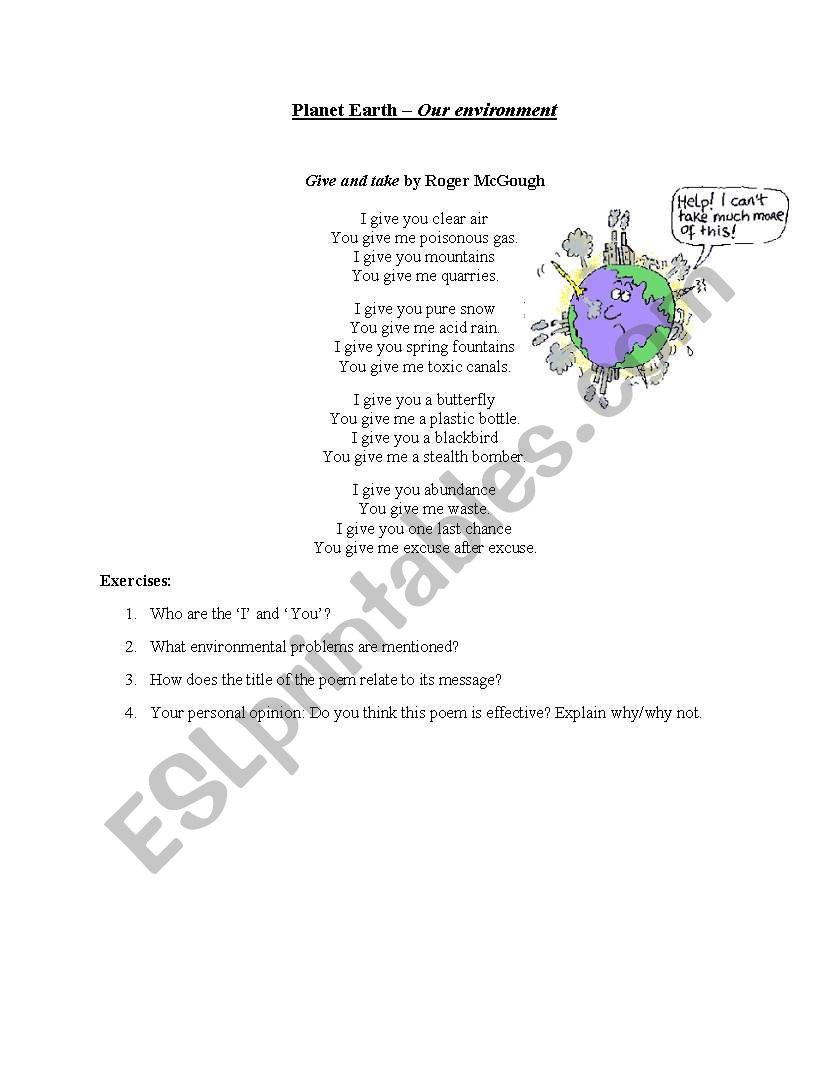 Planet Earth Freshwater Worksheet Answers Planet Earth Mountains Worksheet Promotiontablecovers