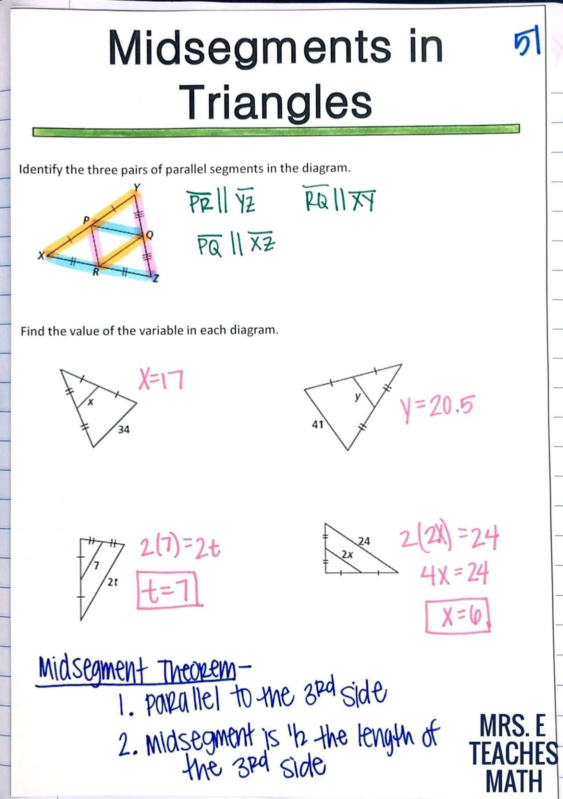 Points Of Concurrency Worksheet Answers Pare Worksheet