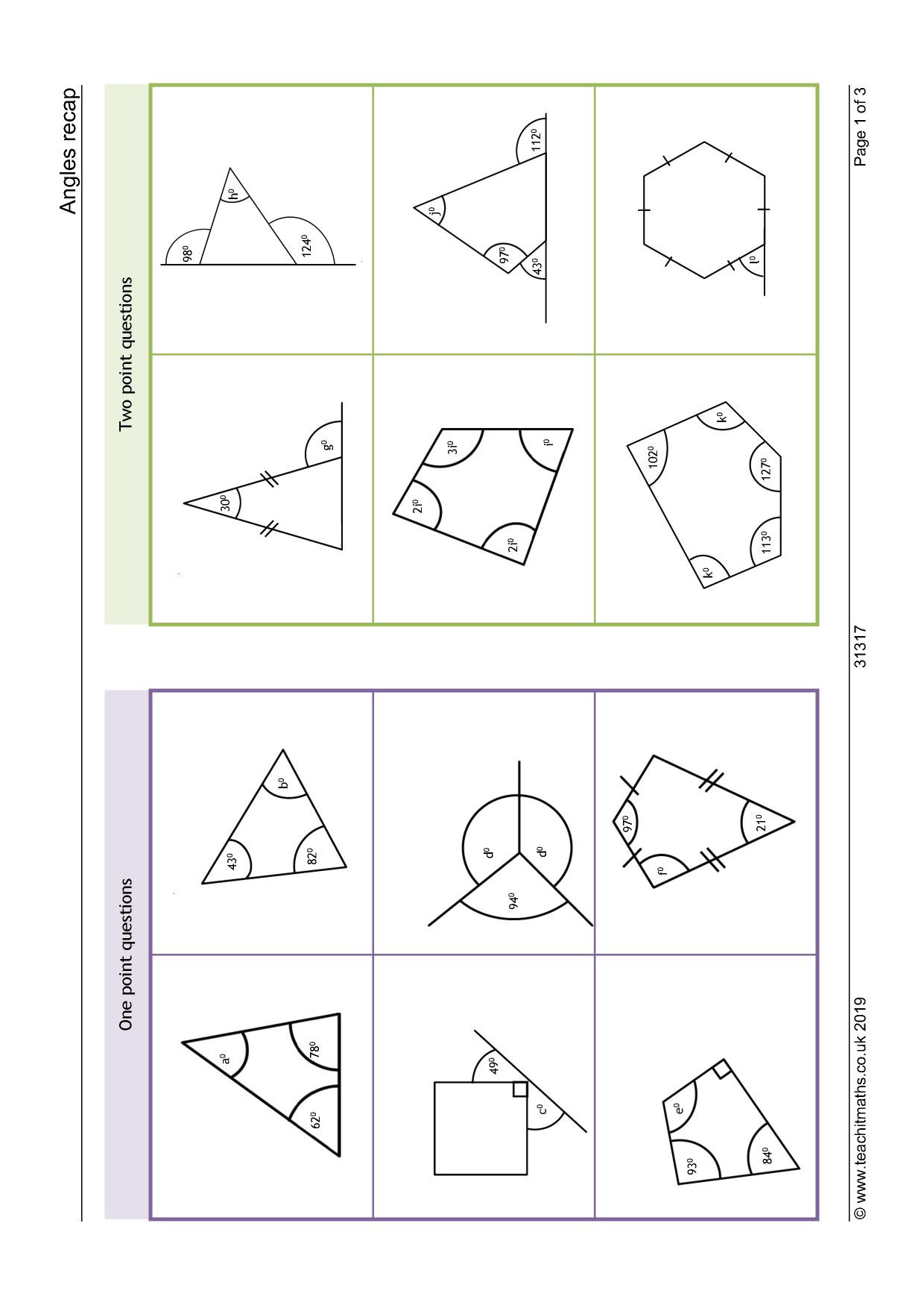 Polygon and Angles Worksheet Angles – Angles In Polygons