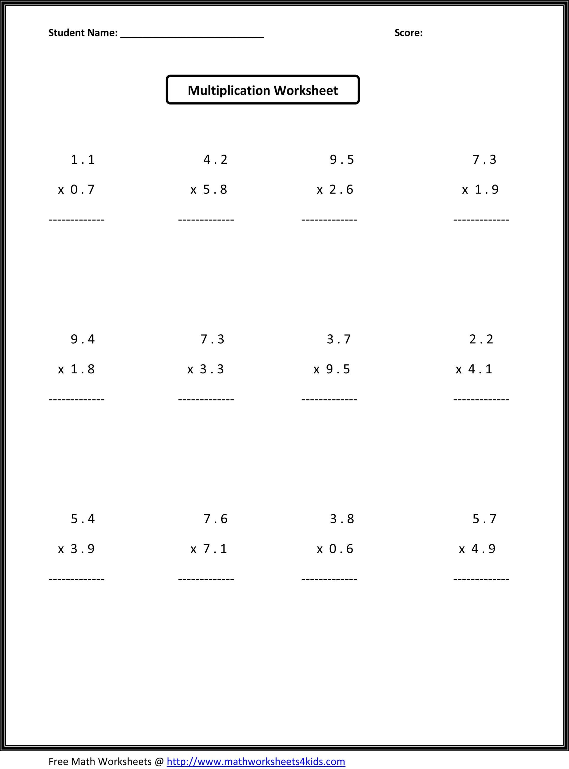 Pre Algebra Review Worksheet 7th Grade Math Worksheets Value Absolute Free Expression