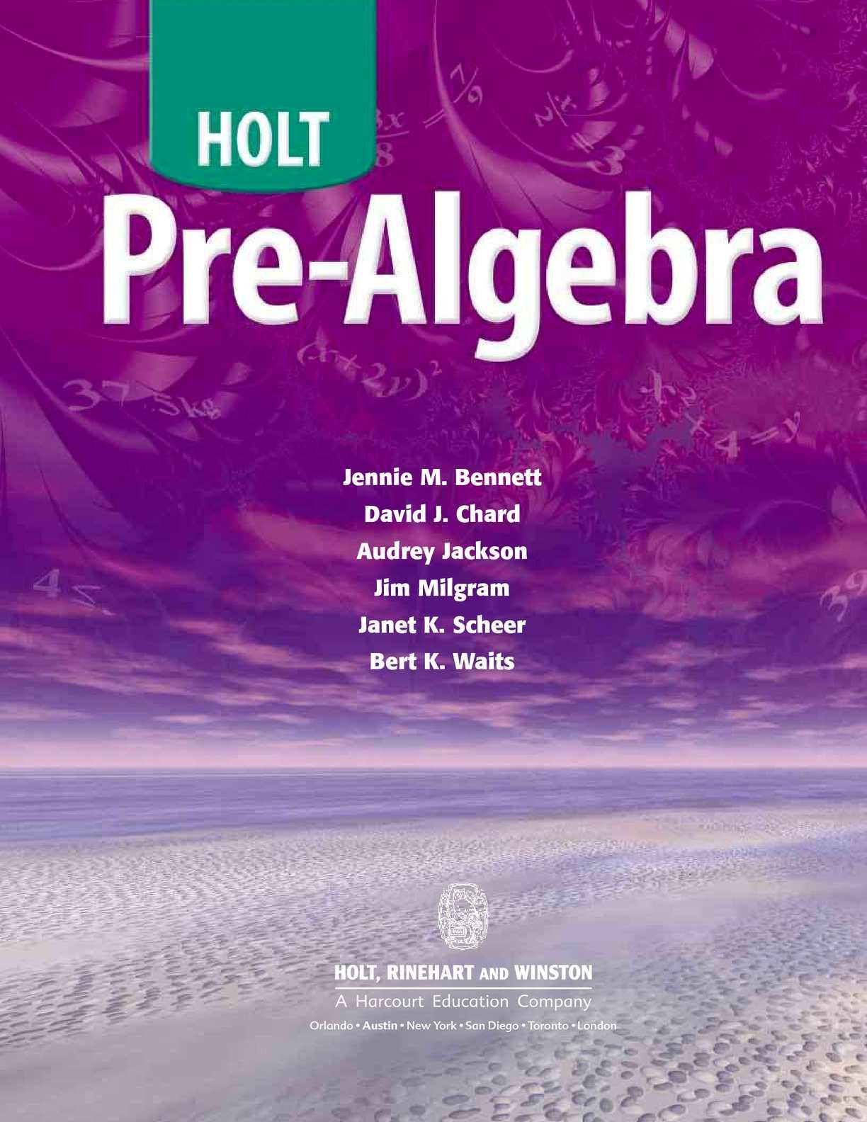 Pre Algebra Review Worksheet Calaméo Pre Algebra Holt