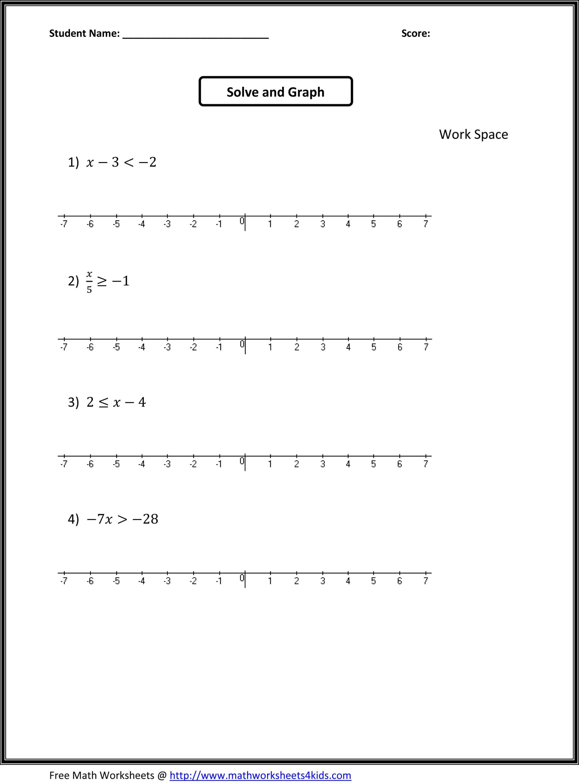 Pre Algebra Review Worksheet Mathematics Practice Book Emotional Resilience Worksheets