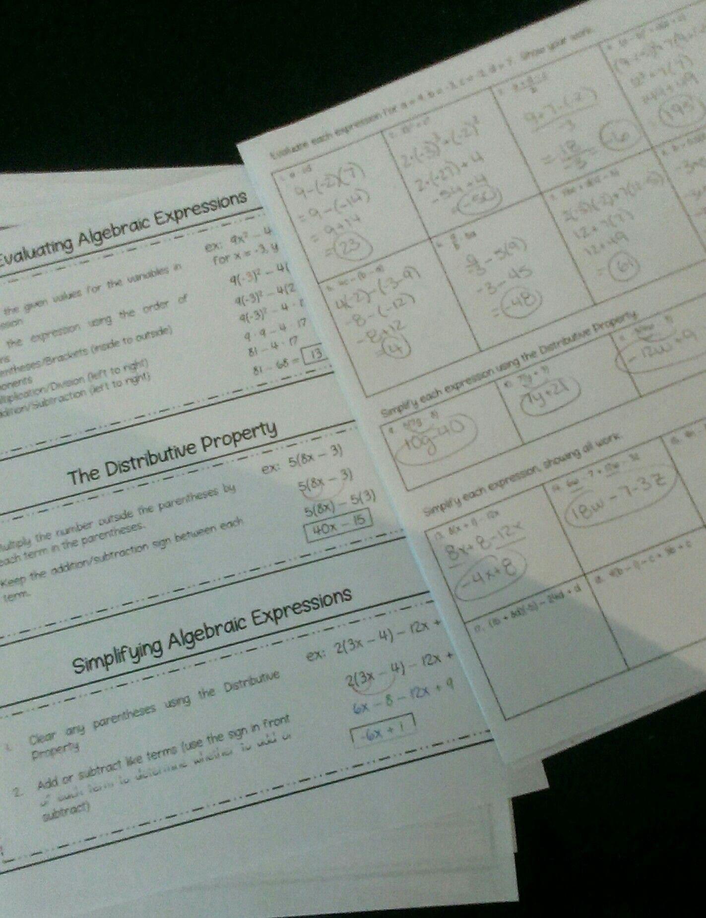 Pre Algebra Review Worksheet Prepare for Algebra I with This Pre Algebra Review Packet