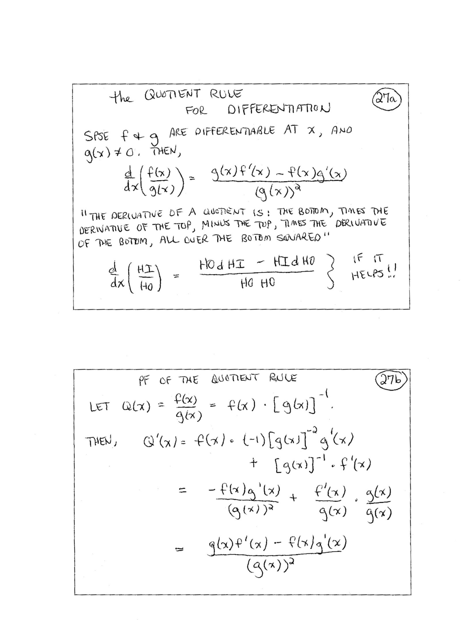 Product and Quotient Rule Worksheet Calculus I Mathematics Daily Syllabus