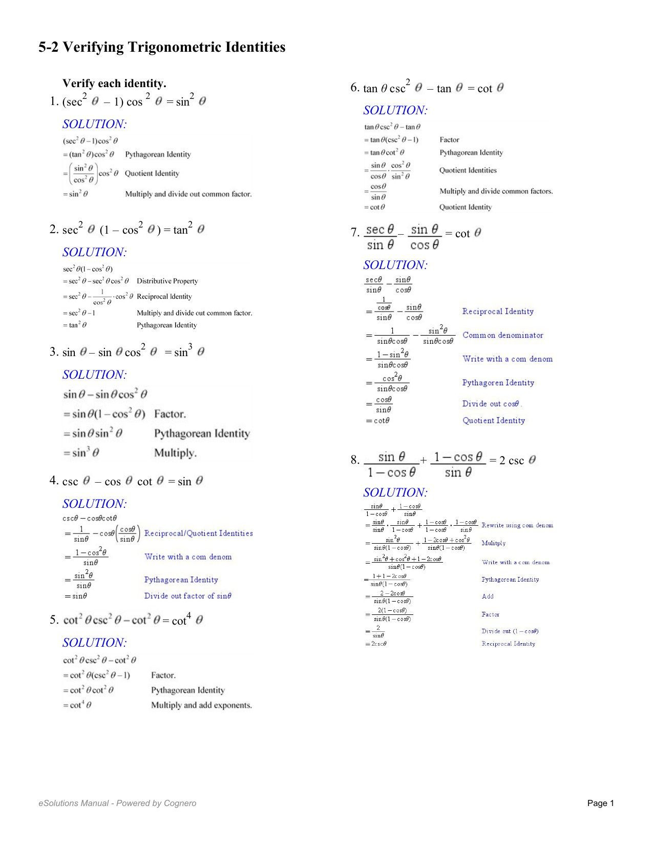 Product and Quotient Rule Worksheet Graphing Sine and Cosine Functions Worksheet