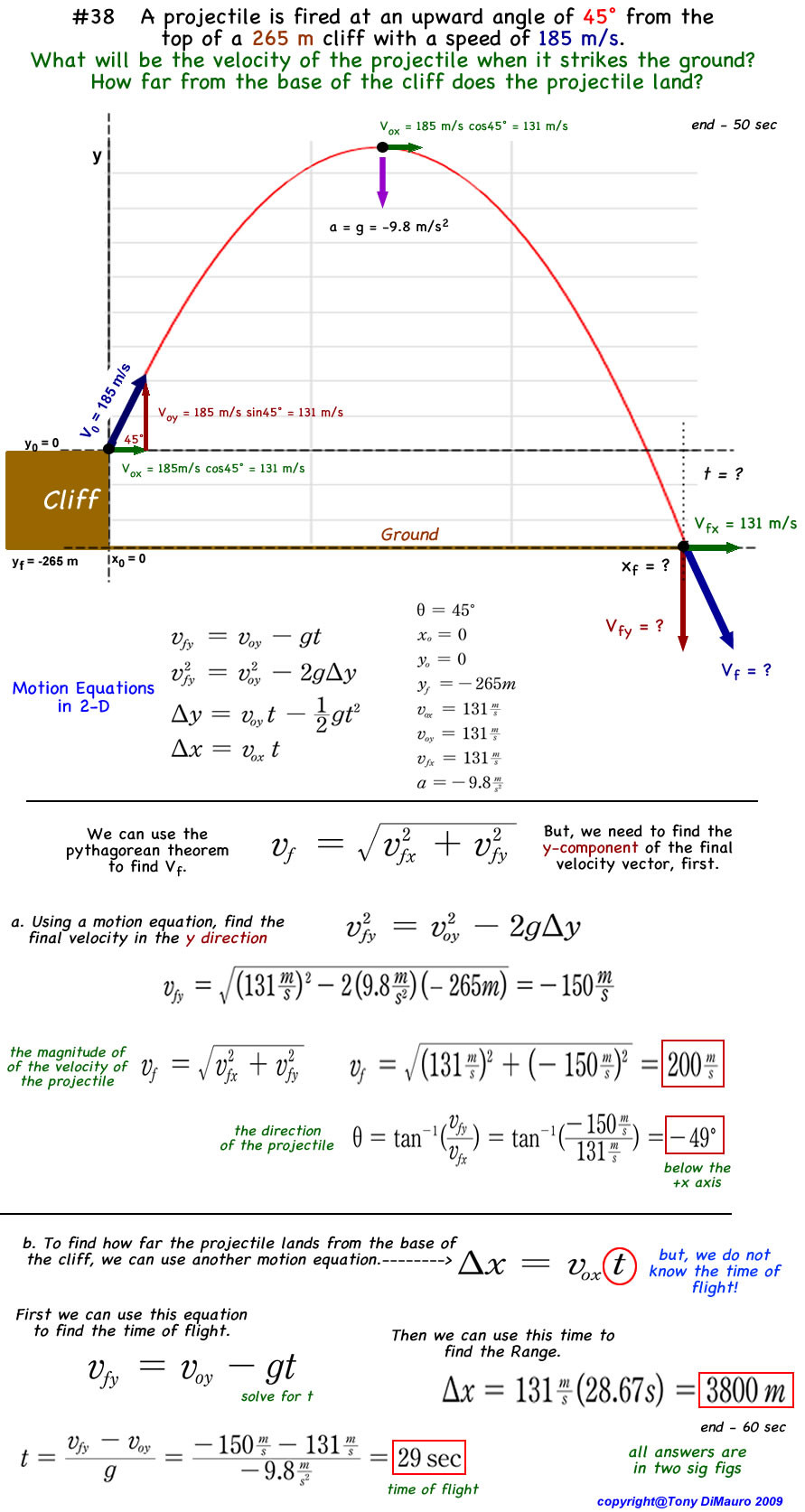 Projectile Motion Worksheet Answers Physics Homework Help Projectile Motion Problems