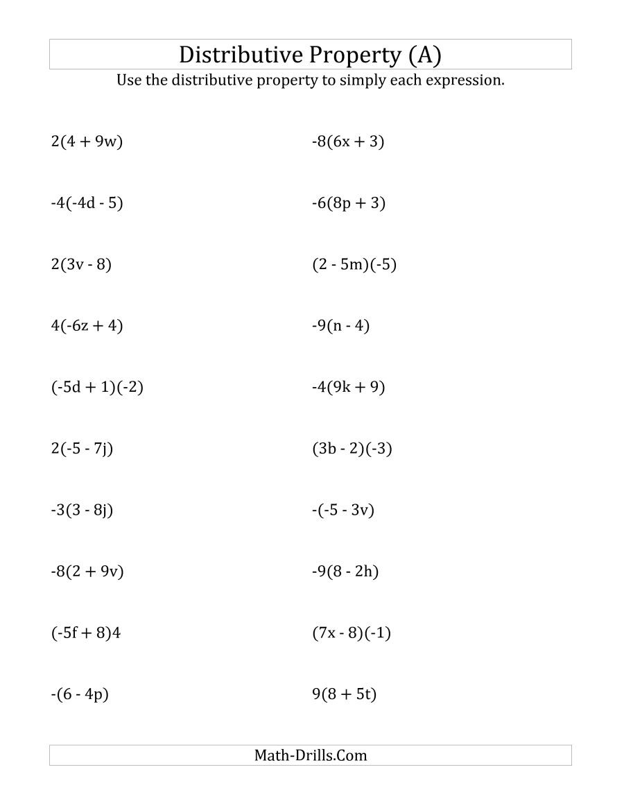 Properties Of Exponents Worksheet Answers Beautiful Distributive Property Worksheet Answers