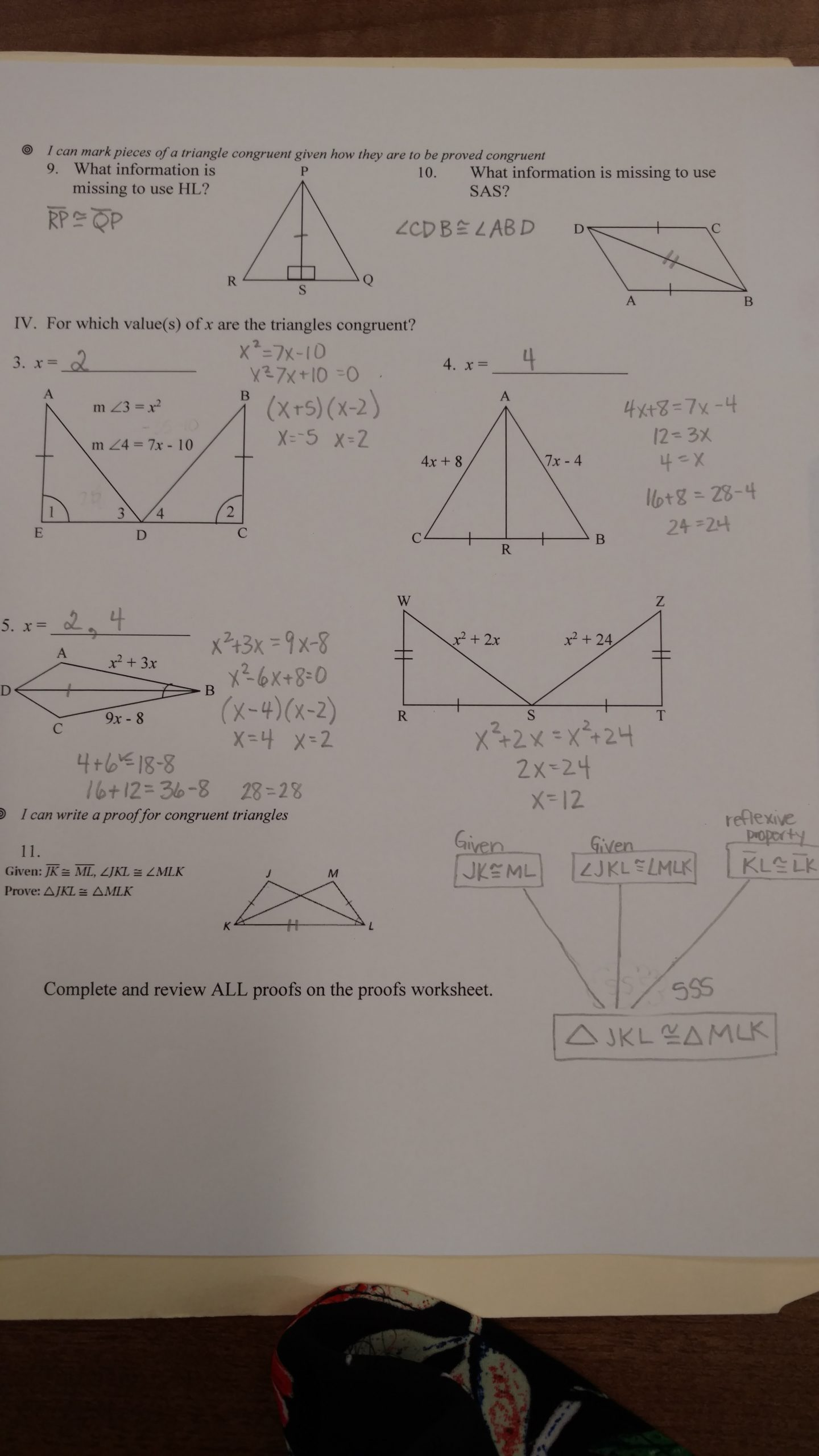 Proving Triangles Congruent Worksheet Answers Triangle Congruence Dr Mccormick S Math Website