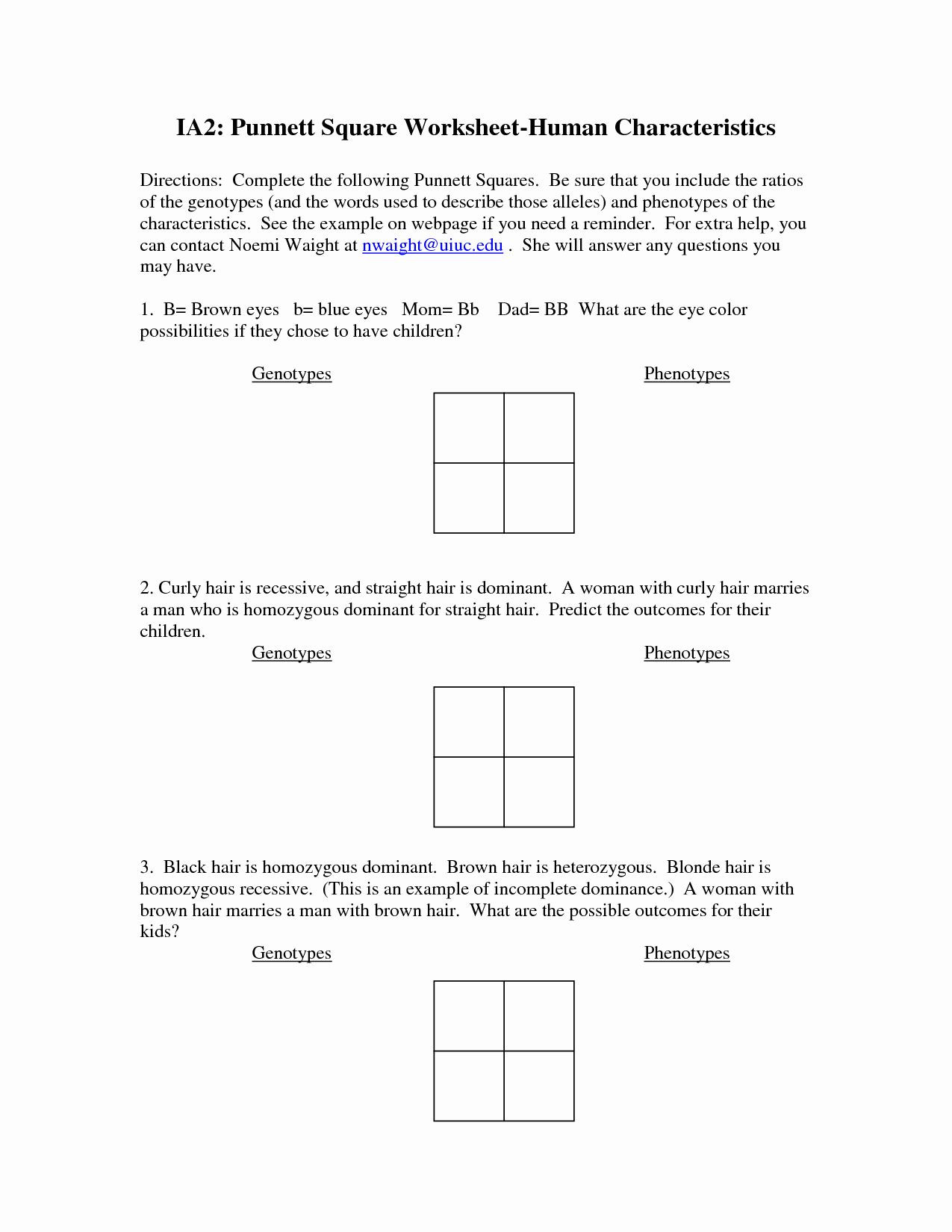 Punnett Square Practice Problems Worksheet 50 Genetics Problems Worksheet Answer Key In 2020 with