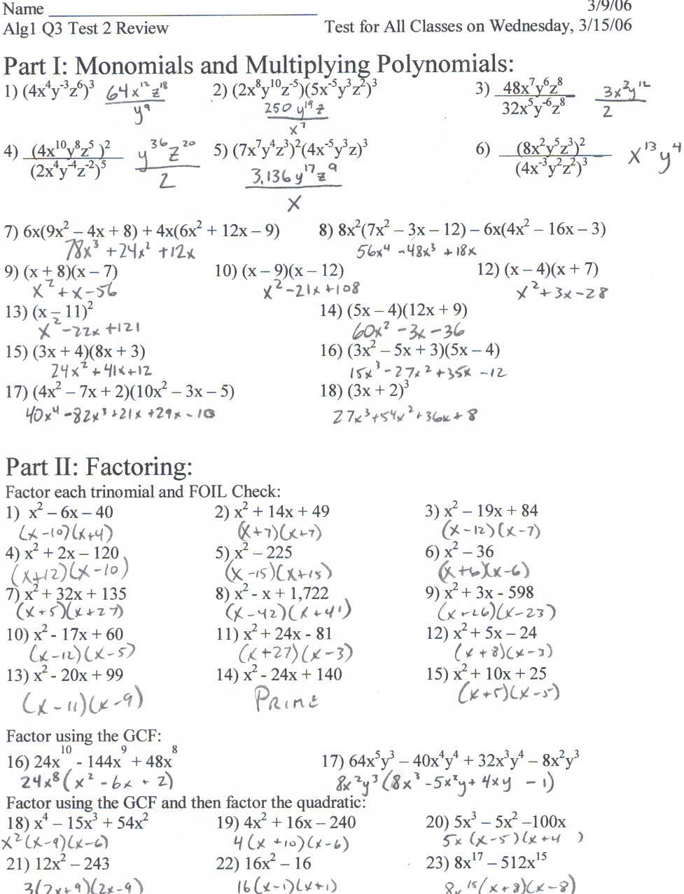 Quadratic Equation Worksheet with Answers Quadratic formula Worksheet Pdf