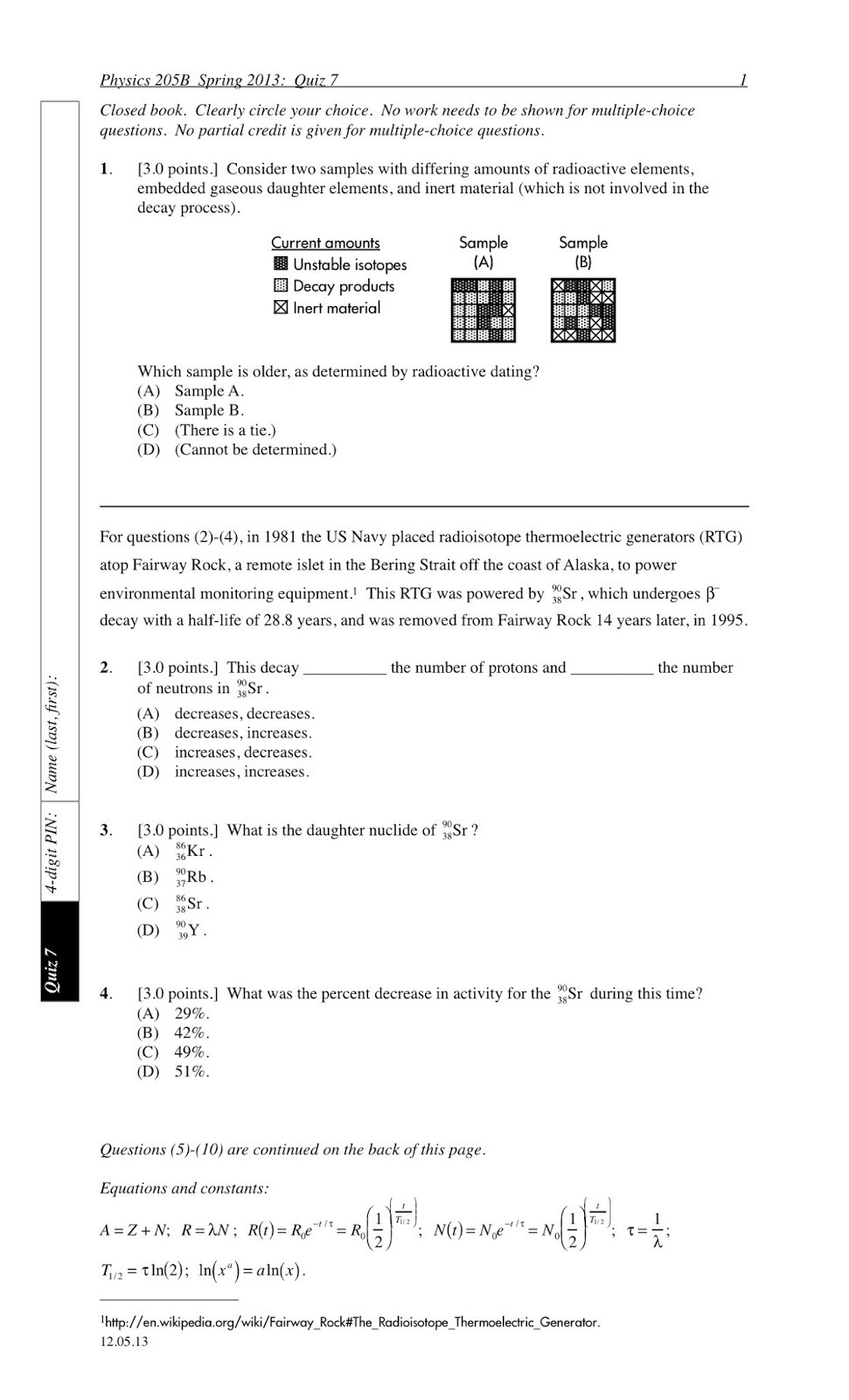 Radioactive Decay Worksheet Answers Nuclear Decay Worksheet Answer Key Worksheet List