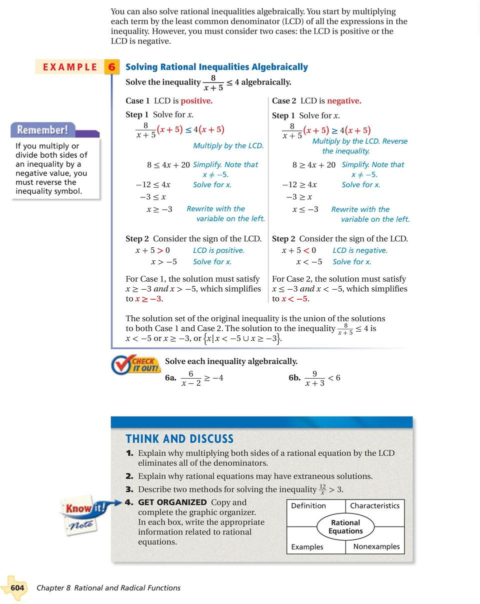 Rational Equations Word Problems Worksheet solving Rational Equations and Inequalities Pdf Free Download