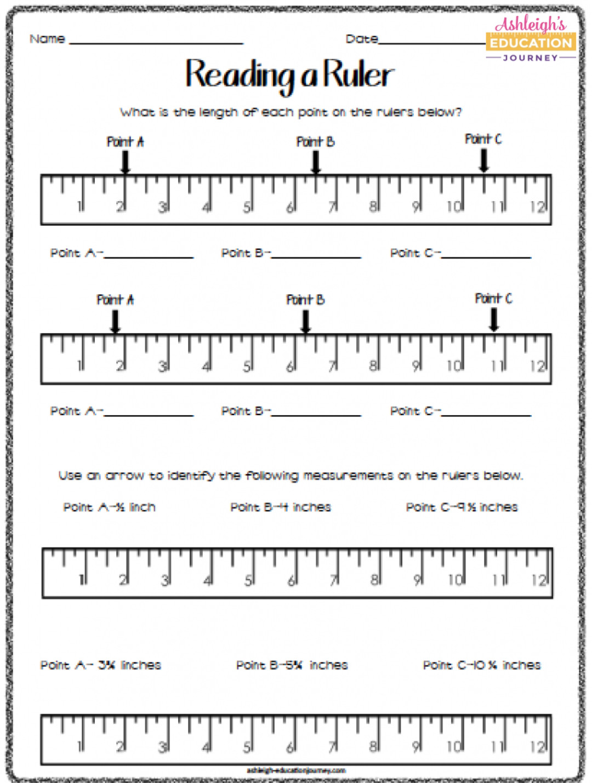 Reading A Metric Ruler Worksheet Linear Measurement ashleigh S Education Journey