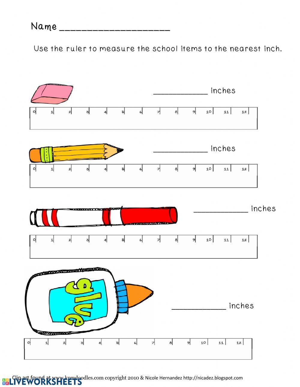 Reading A Metric Ruler Worksheet Measurement Worksheets Interactive Worksheet
