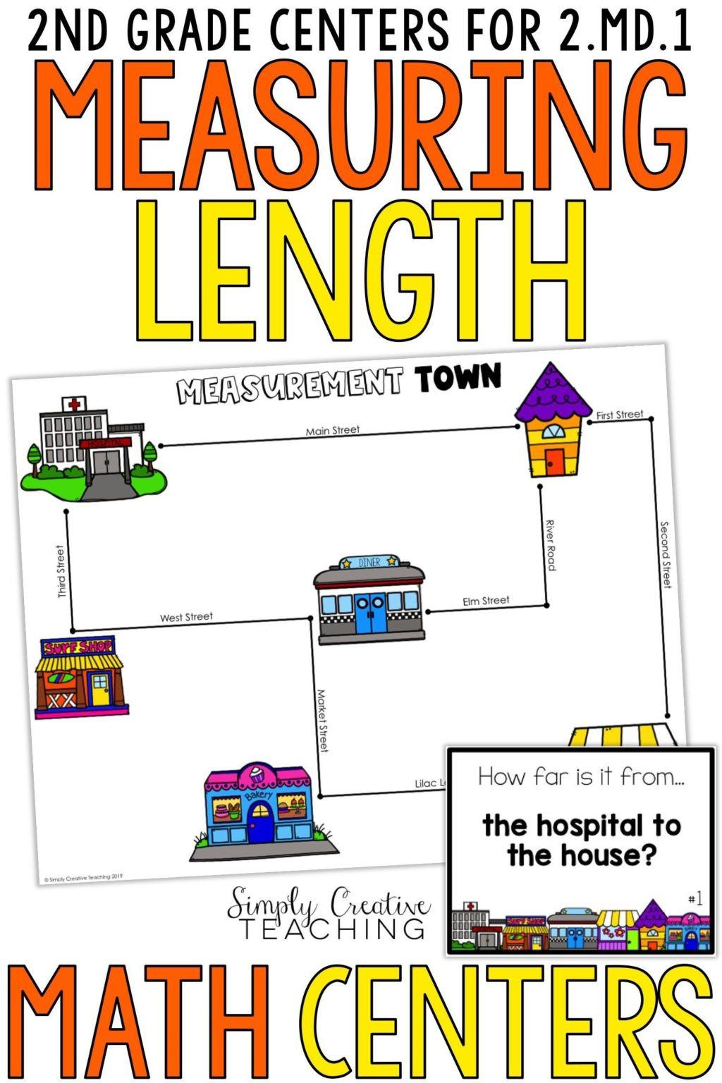 Reading A Metric Ruler Worksheet Worksheet 2nd Grade Measurement Centers for Md Second Math