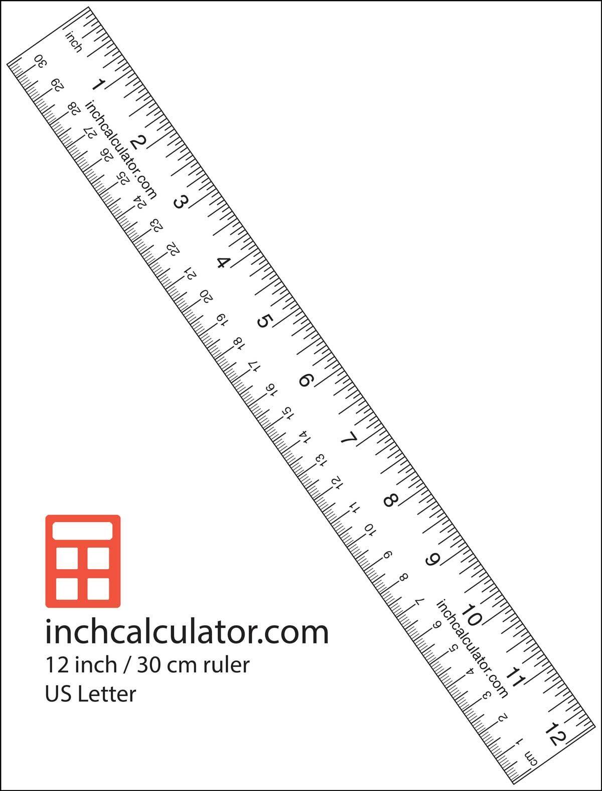 "Reading A Ruler Worksheet Pdf Printable Rulers Free Downloadable 12"" Rulers Inch"