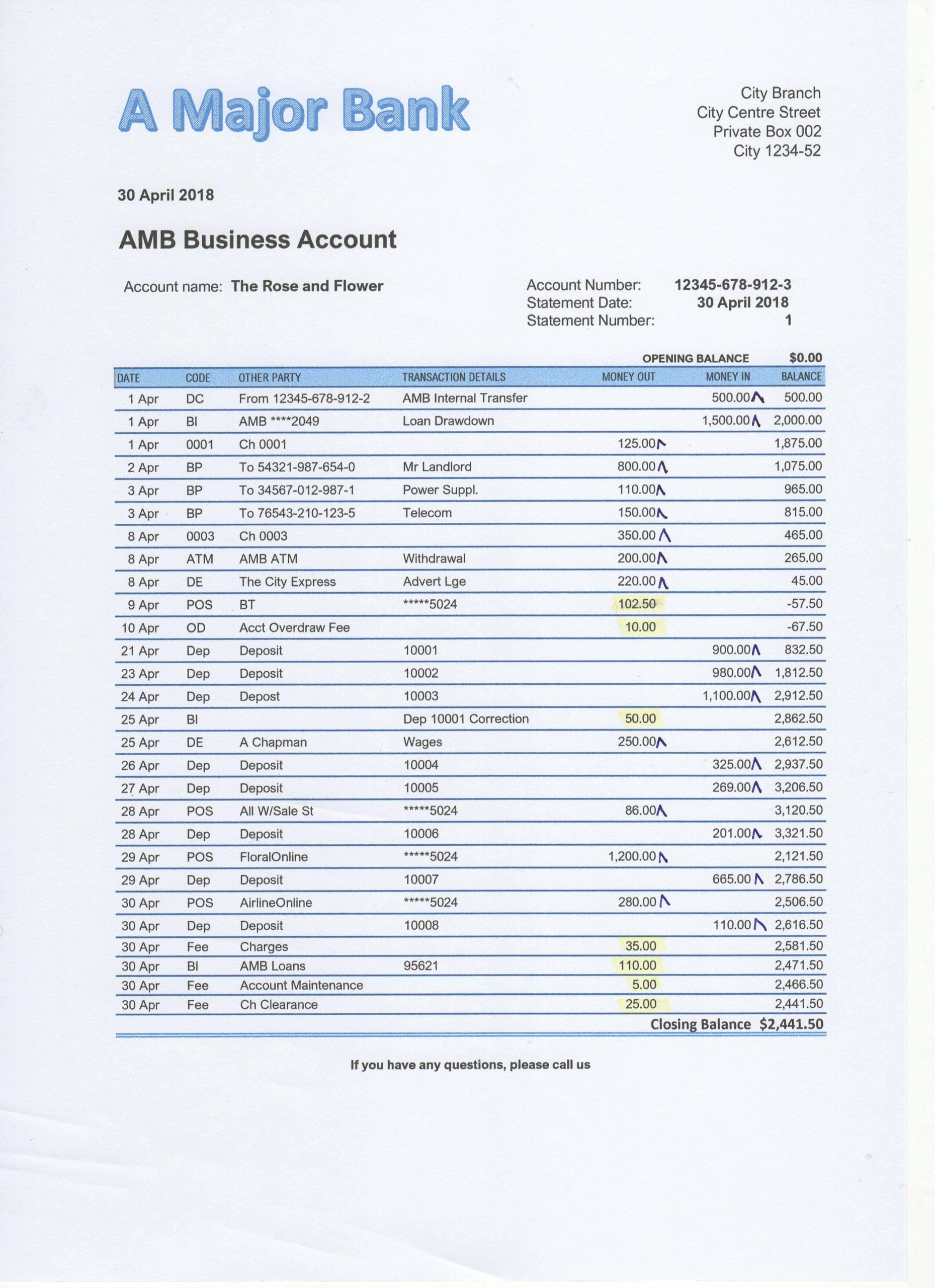 Reconciling A Bank Statement Worksheet Bank Reconciliation Exercises and Answers Free Downloads
