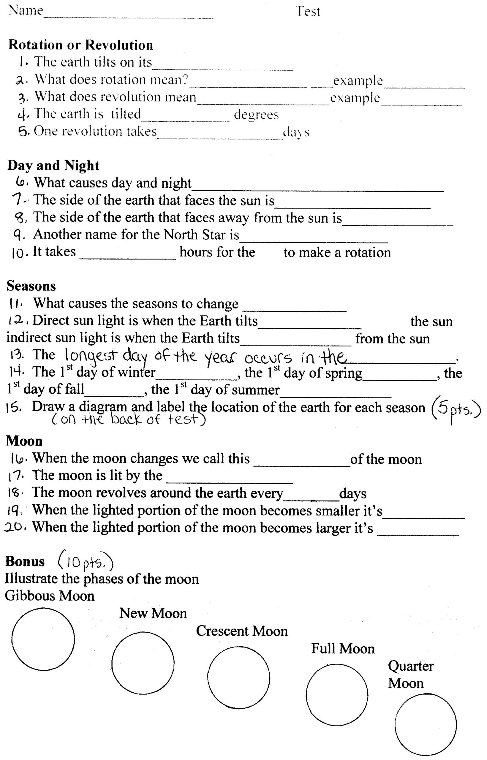 Science World Worksheet Answers Earth Science Materials Worksheets Middle School