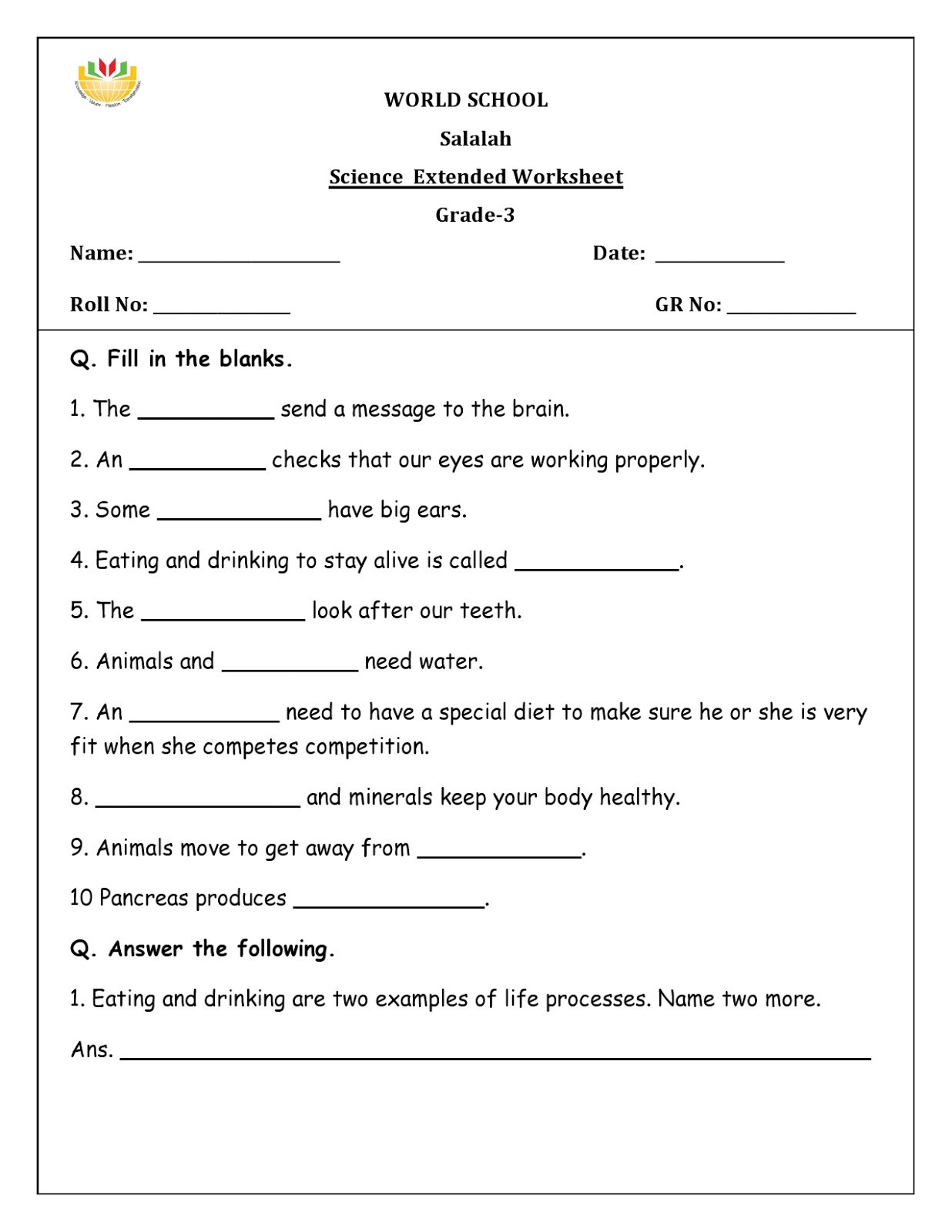 Science World Worksheet Answers Science Worksheets for Grade to Educations Math Games