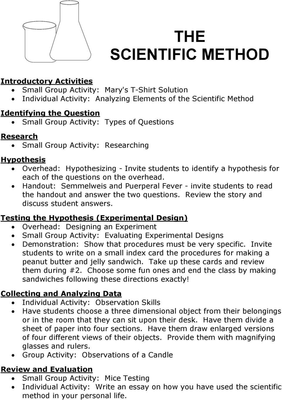 Scientific Method Worksheet Answer Key the Scientific Method Pdf Free Download