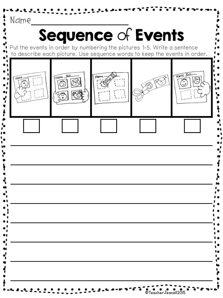 Sequence Of events Worksheet Sequencing Packet 2