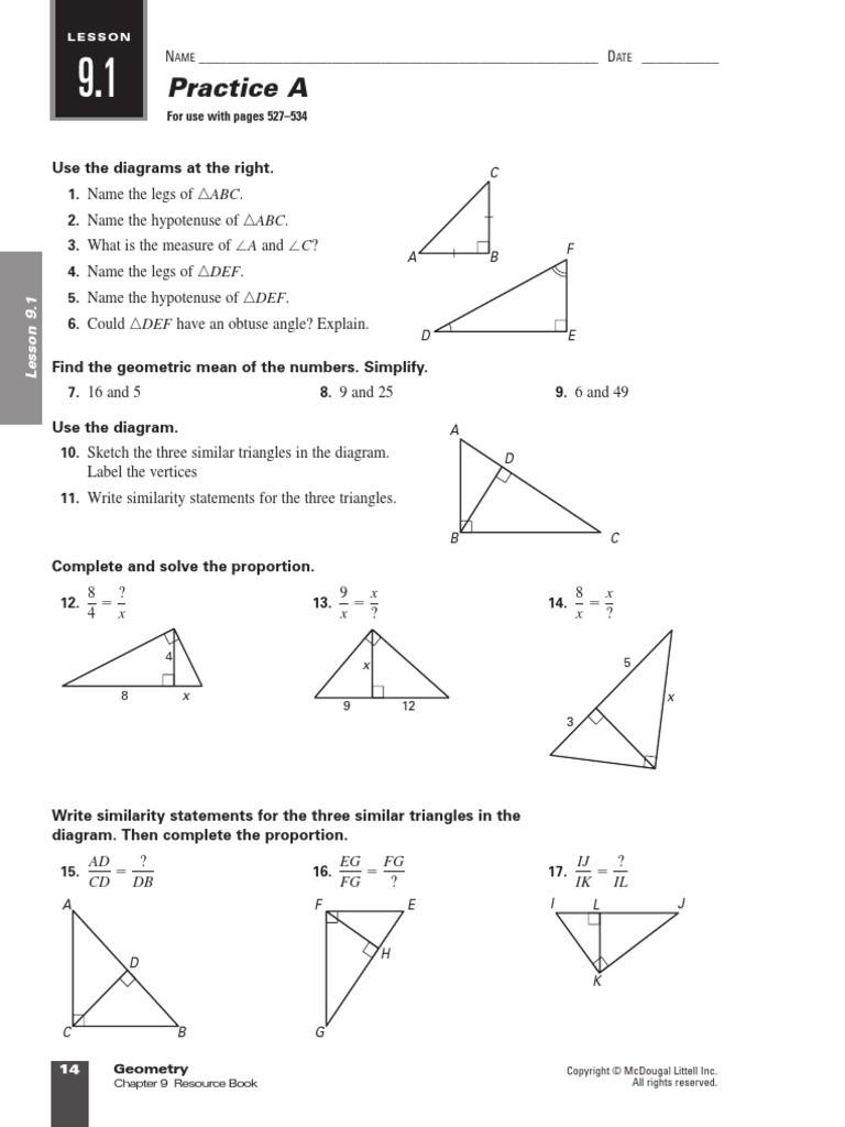 Similar Figures Worksheet Answer Key 100 [ Similar Triangles Proportions Worksheet ]