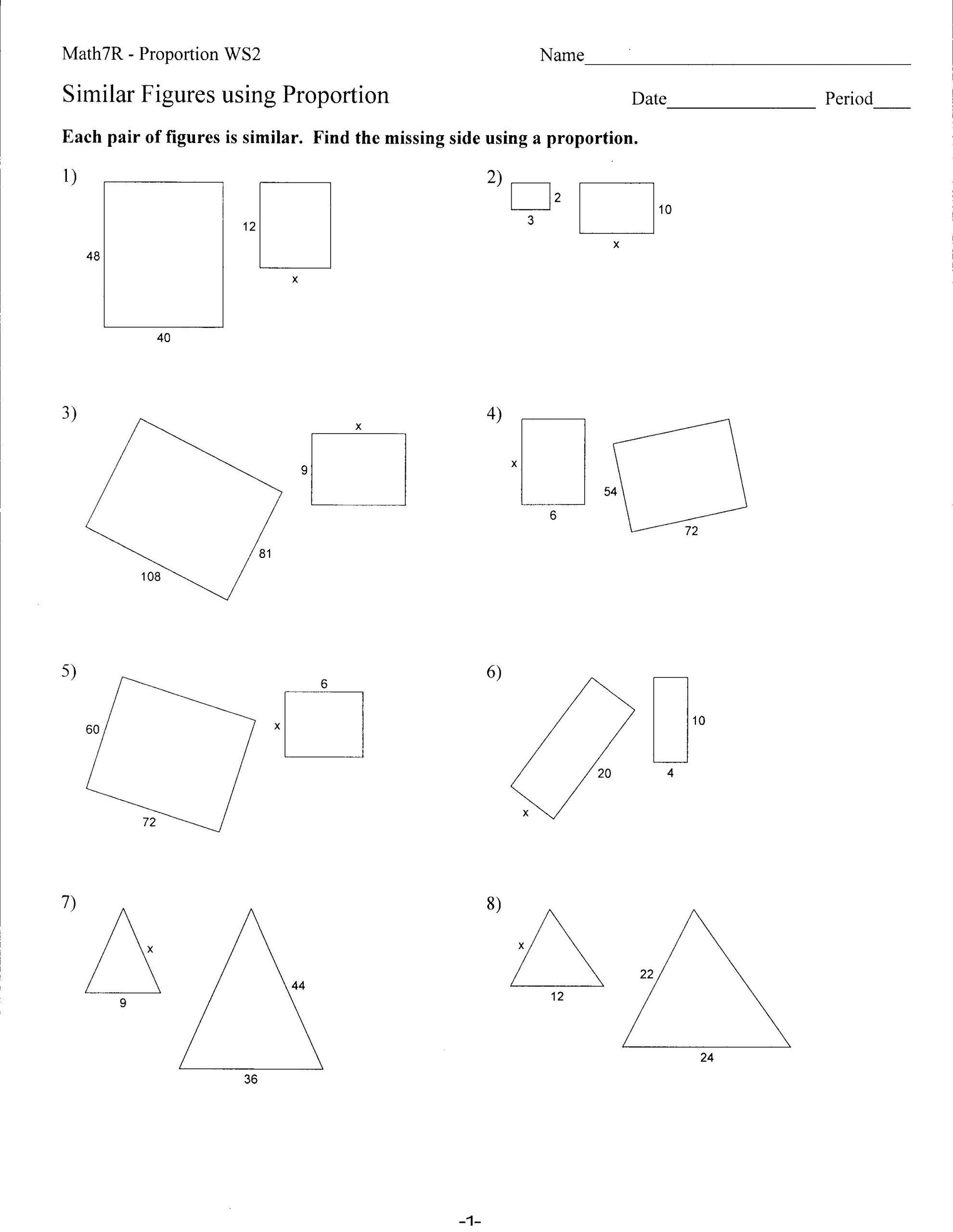 Similar Figures Worksheet Answer Key 29 Similar Shapes and Scale Drawings Worksheet Worksheet