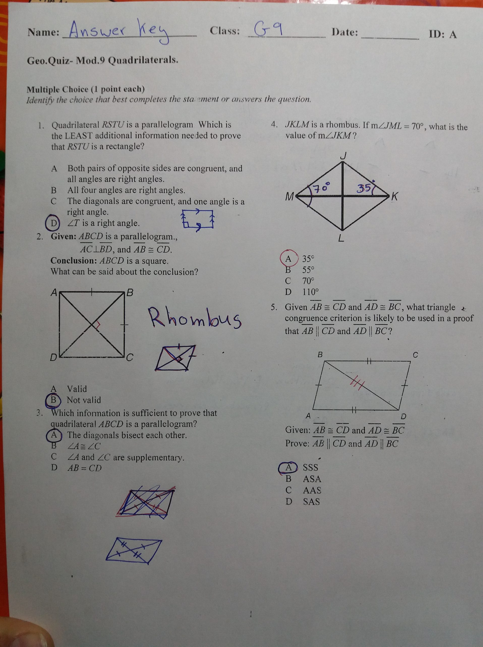 Similar Figures Worksheet Answer Key Geometry – 9th Grade Gps