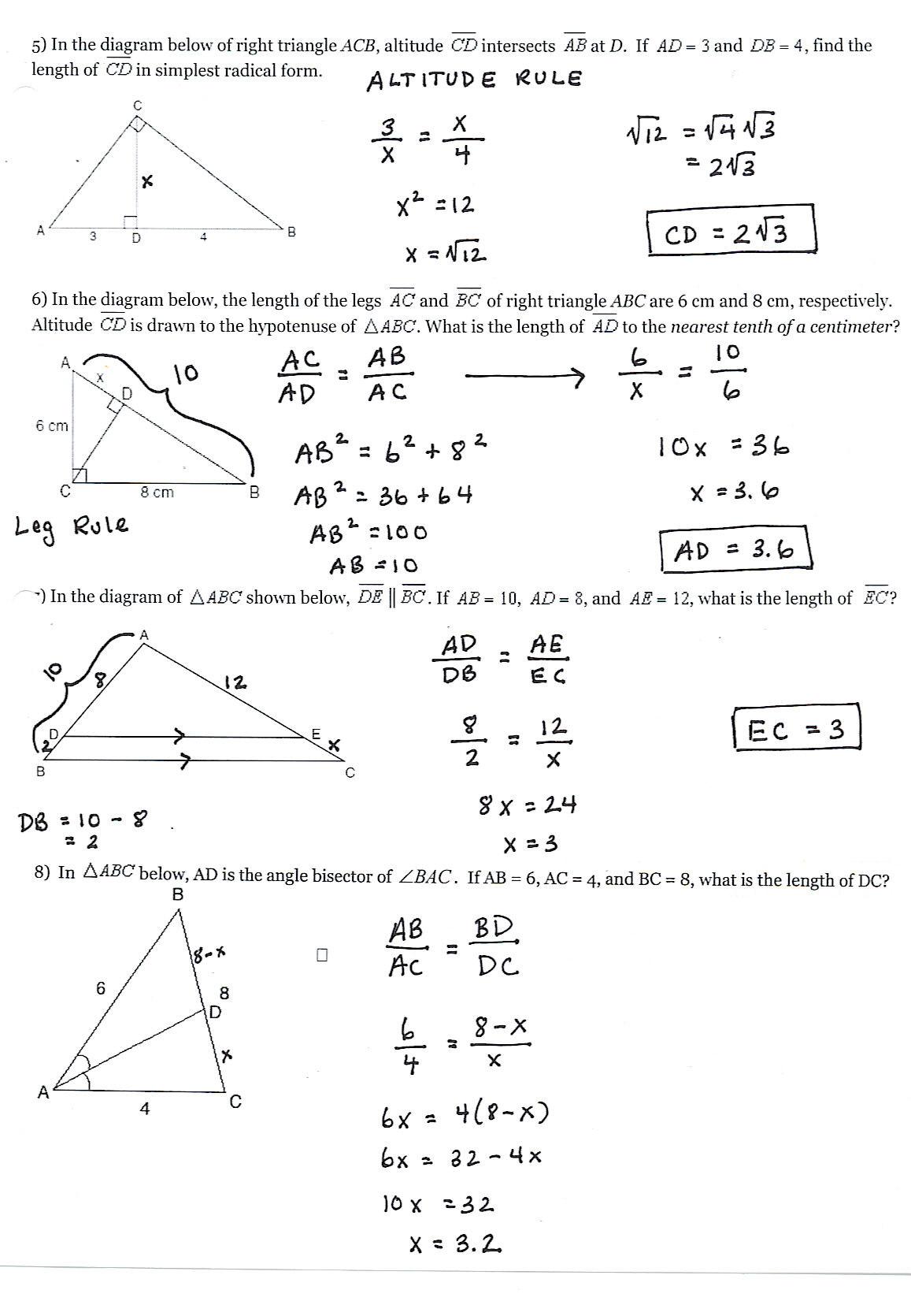 Similar Figures Worksheet Answer Key Unit 9 Similarity Tywls Geometry 2013 2014