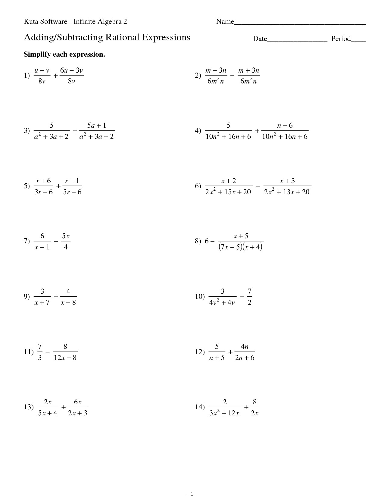 Simplifying Expressions Worksheet with Answers Simplifying Algebraic Expressions Worksheet and Answers