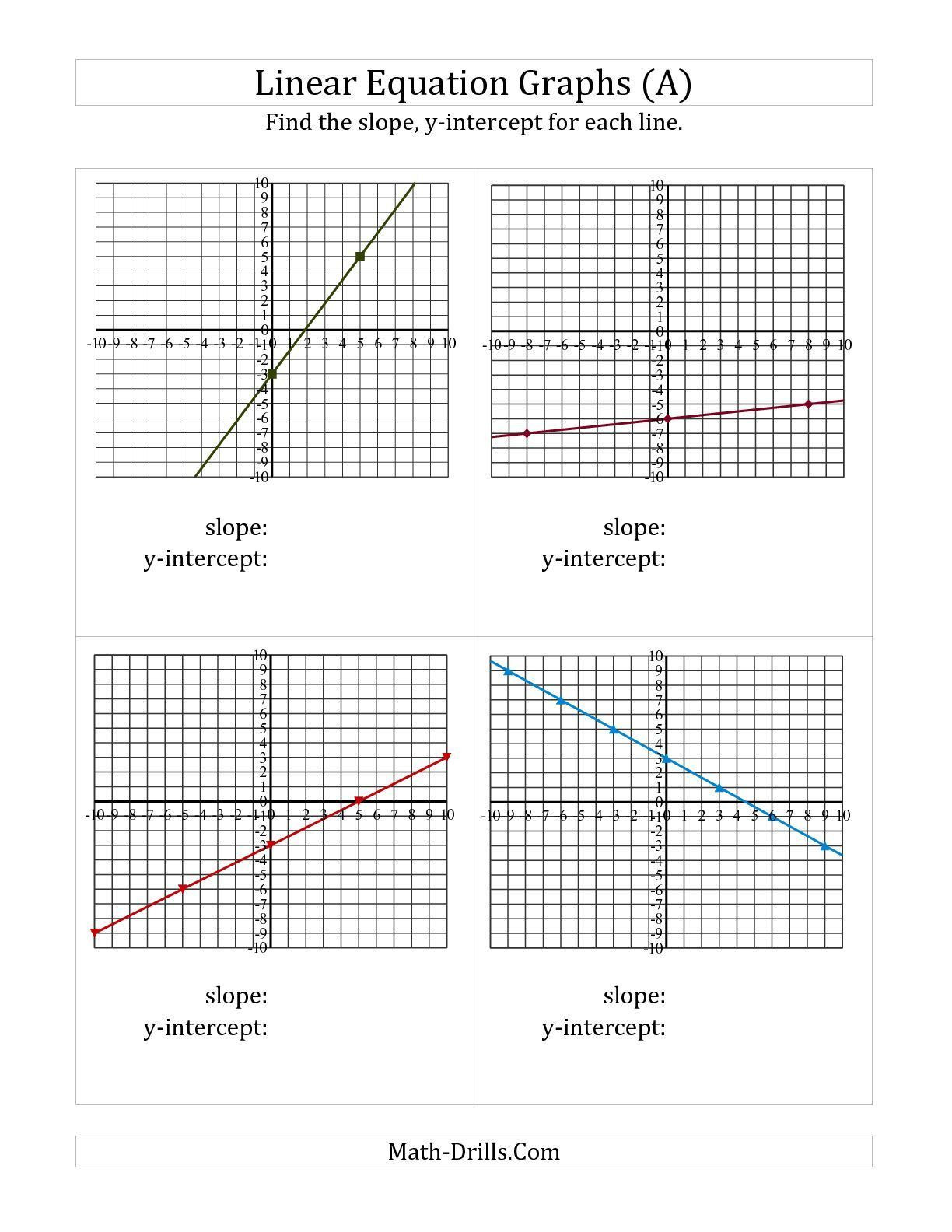 Slope From A Graph Worksheet 3 Finding Slope From A Graph Worksheet In 2020 with Images