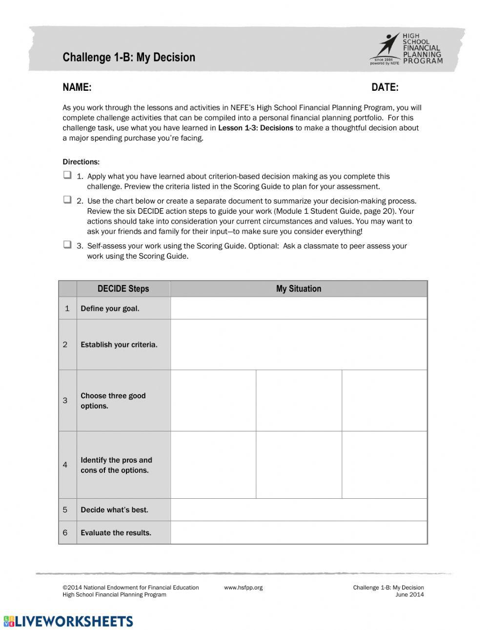 Solve by Elimination Worksheet Challenge Interactive Worksheet Personal Finance Worksheets