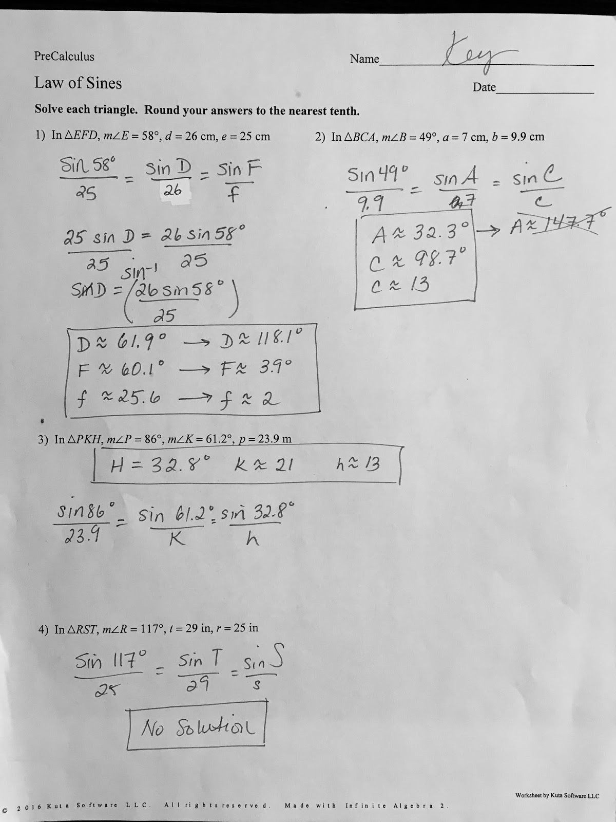 Solve Trig Equations Worksheet Precalculus 441 solving Trigonometric Equations Worksheets