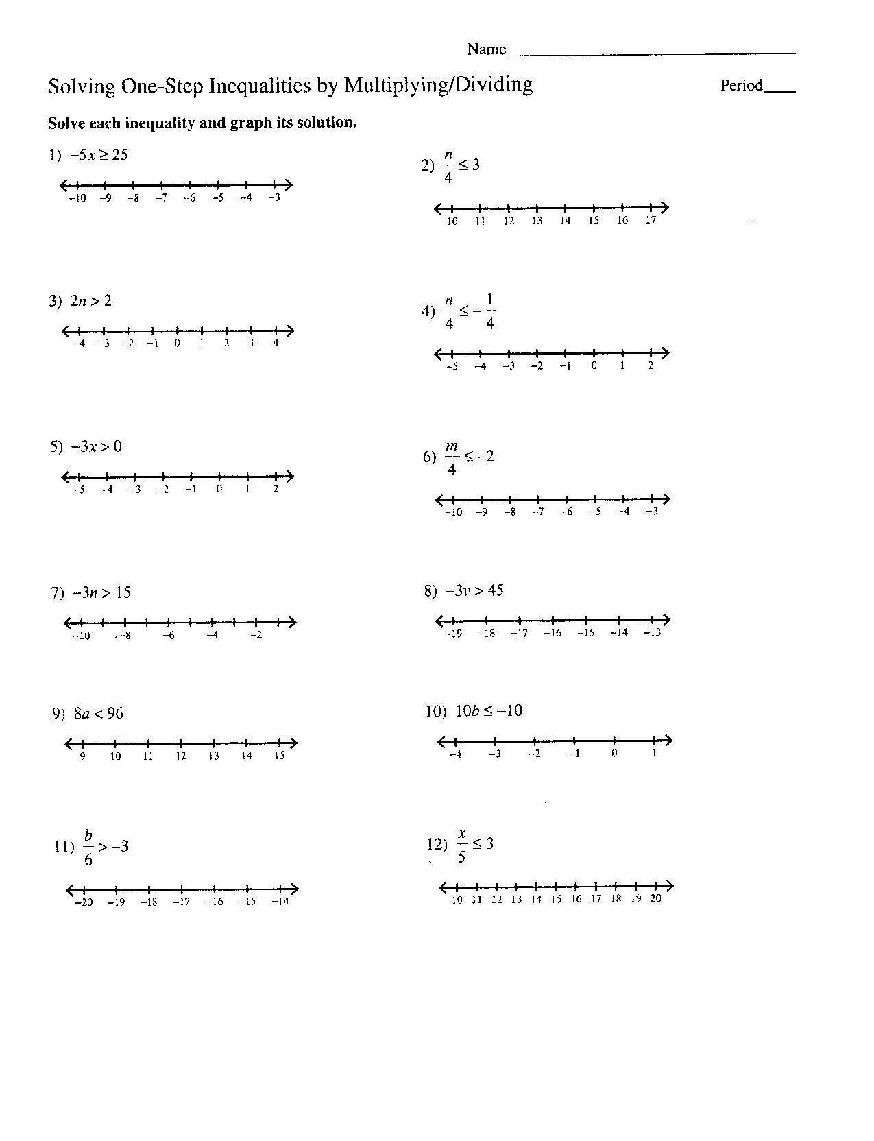 Solving Multi Step Inequalities Worksheet Multi Step Equation Worksheet