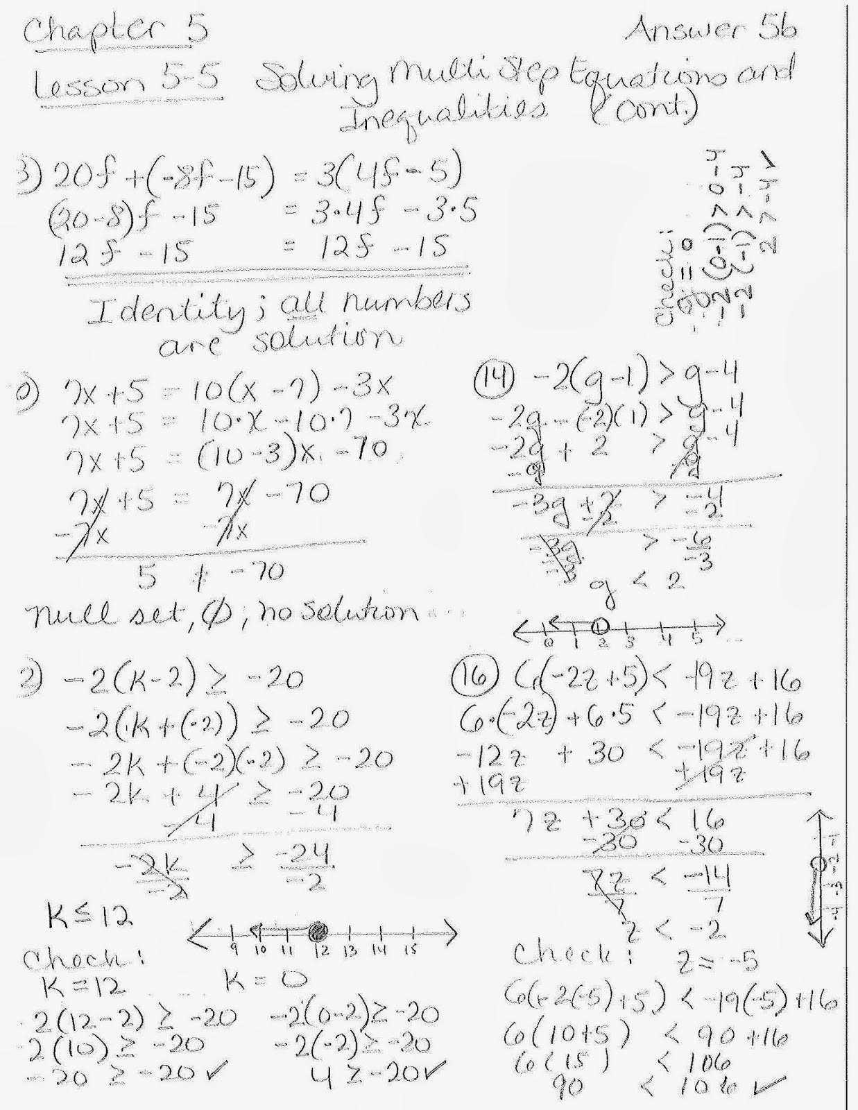 Solving Multi Step Inequalities Worksheet solve Multi Step Equations Lesson 5 Tessshebaylo