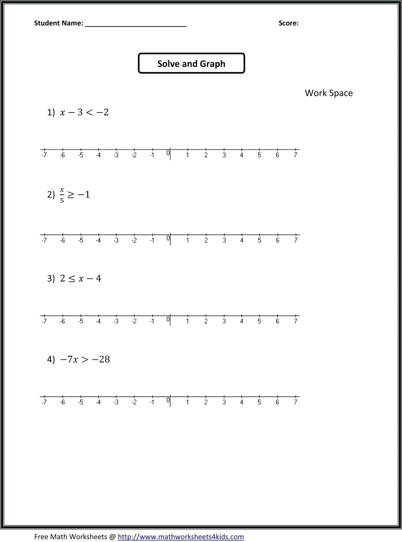 Solving Multi Step Inequalities Worksheet solving and Graphing Pound Inequalities Worksheet Nidecmege